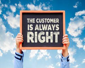 Hos os har kunden ikke altid ret