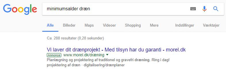 Google Soegning Draen 1